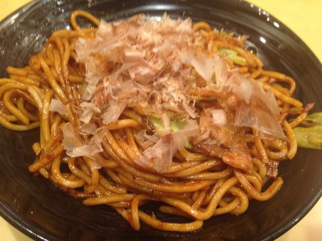 焼きそば専門店 寿座 総本店 - 豚焼きそば 麺大盛