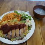 パタタ食堂 - トルコライスとアサリの味噌汁
