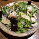 豆腐料理 空野 - 海老と生湯葉のタイ風サラダ