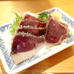 明神丸 - 藁焼き たたき 中 塩 (900円) '15 2月上旬