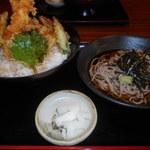 産直鮮魚寿司炉端 源ぺい - 特盛り海鮮丼+そば