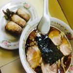 35835101 - チャーシュー麺(880円)とチャーシュー握り3個(330円)