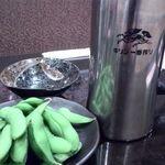 居酒屋ななこ - 冷え冷えのアイスコールドと食べ放題の枝豆