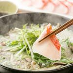 和雅家一番人気の「金目鯛のしゃぶしゃぶ」