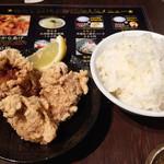 麺屋 侍 - ランチBセット・唐揚げとライス
