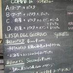 oggi - menu黒板