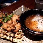 コラーゲン豚しゃぶの店 黒豚の桜蔵 - マルチョウ焼き