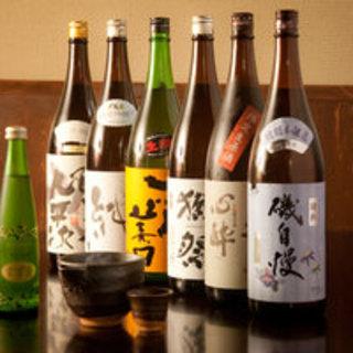 日本各地の豊富な地酒♪