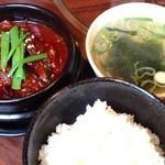 李苑 - 特製牛スジ煮込みランチ880円
