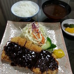 幸ちゃん - 味噌カツ定食並 1180円