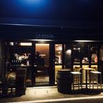 35854426 - 店舗前                       街灯も暗い。                       岐阜駅からちょっと歩くため、牡蠣の旬の冬は寒い。