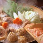 夢本舗 - 水炊き鍋は鶏の出汁がでて〆も抜群!