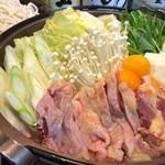 でん - 豪華お刺身7種盛り付き!丹波赤鶏すき焼きコース!