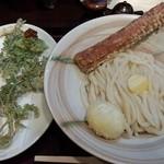 活麺富蔵 - 竹玉天釜バター&春野菜天ぷら