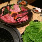 三四郎 - 黒毛和牛盛り合わせとサンチュセット