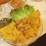 エイケイコーナー - いつもは、ランチのAKcorner,今日は、仲間といっぱい\(^o^)/       ベトナム風お好み焼き、バインセオで。       \(^o^)/