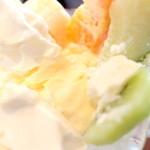はまきた珈琲 - 中にはバニラアイスが。 '15 2月上旬