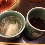 しゃぶ禅 - 〆の麺スープ