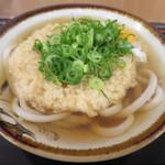 上六庵 - 天ぷらうどん+生卵