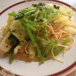 パリンカ - セロリと折菜のペペロンチーノ