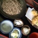 蕎麦喰い処 利めい庵 - 海老天せいろ頂きました♬