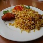 カシミール - 前菜?(ビリヤニ、タンドリーチキン、サラダ)