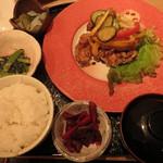 35880983 - 鶏と野菜のから揚げ定食