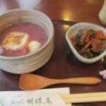 お茶元みはら胡蝶庵 - 桜のお汁粉