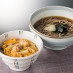 七福 弁天庵 - 親子丼とかけそば 870円(税込)