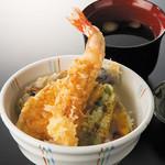七福 弁天庵 - 大海老天丼 980円(税込)