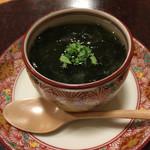 味菜香 やま脇 - 筍の茶碗蒸しワカメのあんかけ