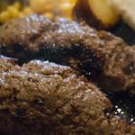 グリル アラベル - 黒毛和牛ハンバーグ・テンゴ(210g)のアップ