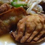 珍満茶楼 - (2015-3-7) 珍満ランチ 揚げ餃子の部分