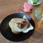 35894205 - 小鉢:揚げポテトとふきのとう味噌
