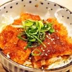 豊家 - ハーフ&ハーフ 並盛(特製ソースカツ丼)