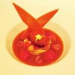モザイク - あまおうイチゴのスムージー ソルベフレーズを添えて