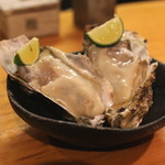 石臼挽き手打 蕎楽亭 - 生牡蠣 (2015/02)