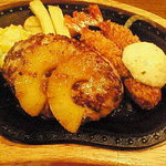 びっくりドンキー - エビフライ&ハンバーグステーキ(パイントッピング)