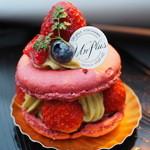 フランス菓子 アンプリュース - 390円『マカロン・ピスターシュ』2015年3月
