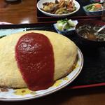 七福食堂 - オムライス大盛 ¥1100
