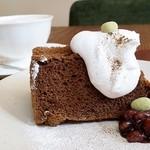 K²-ひょうたん山の秘密の部屋 - ほうじ茶シフォンケーキ