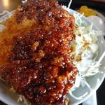 浜田屋 - セットのミニソースかつ丼♪