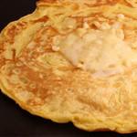 マンだ - チーズ平焼き◎とろっとチーズを鉄板っでカリッと焼きました