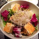 地鶏坊主 - 豆富の棒棒鶏サラダ