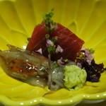 魚彩 まん月 - ☆ホタルイカ&鮪赤身☆