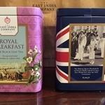 THE EAST INDIA COMPANY - 紅茶:左 ロイヤルブレックファースト 右 ロイヤルフラッシュ