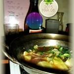 もつ太郎 - ダシは多少濃い目の、、もつスープ