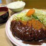 洋食屋 双平 - トンカツ定食(L)1050円