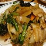 青菜 - 五目あんかけ焼きそば 揚麺で。