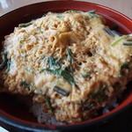 レストラン神の蔵 - 霧島黒豚カツ丼アップ